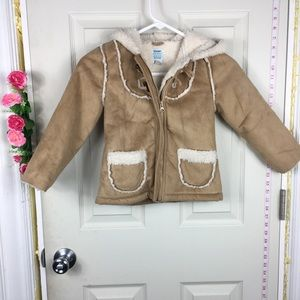 Old Navy Suede Faux Coat Girls 5t